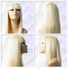 HIGH HEAT RESISTANT HAIR LONG BLONDE DRAG QUEEN LADY WOMEN'S DAILY FULL WIG UK