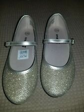SmartFit Girls' Shimmer Chelsea Gold Ballet Flat Shoes w/ Strap