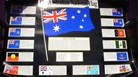 1 X AUSTRALIAN NATIONAL FLAG  POSTER 75 X 55 CM WITH CERTIFICATES SEE PICS