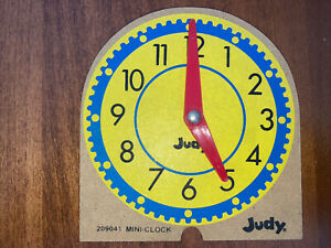 "Telling Time Mini Judy Clock 4"" Distance Learning Preschool Elementary School"