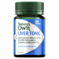 Nature's Own Liver Tonic 50 Tablets Milk Thistle 7000mg Healthy Liver Natures