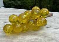 Vintage Lucite Acrylic Grape Cluster Yellow Gold Bubble Mid Century Retro