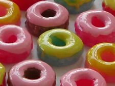 "100 Very Cute Flatback Resin Embellishments  - Sweet Doughnut Mix - 10mm/0.4"""