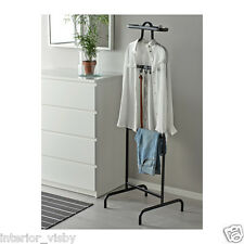 Ikea Black Mulig Valet Clothes Rail Display Rack Coat Dress Stand Free Standing