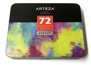 ARTEZA Professional Watercolor Pencils Set of 72