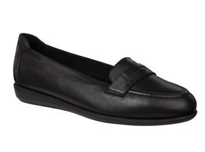 Scholl Phillis Mocassin Style Flat Shoes in Black UK4 EU37 RRP £76.99p