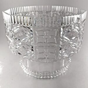 Vintage Regaline 489 Clear Plastic Pedestal Footed Compote Candy Dish Bowl