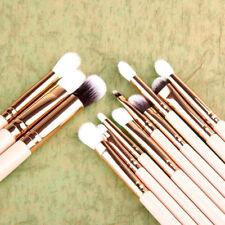 12PCS Pro Makeup Brushes Set Foundation Powder Eyeshadow Eyeliner Lip Brush Tool