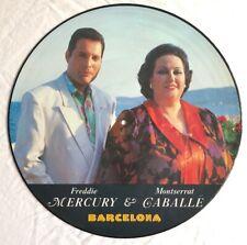 "FREDDIE MERCURY(QUEEN) -Barcelona- Rare UK 12"" Picture Disc /Vinyl Record"