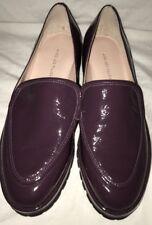 Avec Les Filles Women's Oxford Shoes Eggplant Crinkle Leather HTF Sample NEW 7M