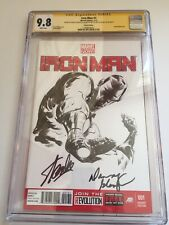 Iron Man #1 CGC 9.8 3x SS signed Stan Lee, Danny Glover and Jae Lee SS Sketch