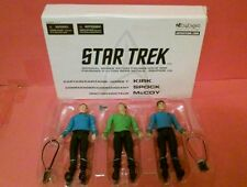 STAR TREK ORIGINAL SERIES ACTION FIGURES WAVE ONE KIRK SPOCK MCCOY ART ASYLUM