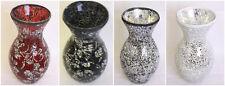 Medium and Large Crackle Glittery Sparkled Mosaic Glass Decorative Vase H28