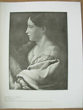 VINTAGE 1912 PRINT - PORTRAIT OF A WOMAN By PRIMATICCIO