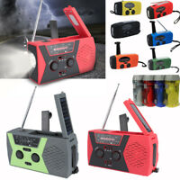Emergency Solar Hand Crank AM/FM/NOAA Weather Radio Power Bank Charger 2000 mAh