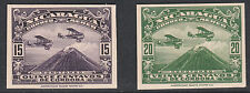Nicaragua (1394) - 1929 AIR 15c & 20cIMPERF  PROOFS on card
