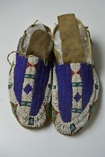 Native American Old  Plains Indian Sioux Beaded moccasins
