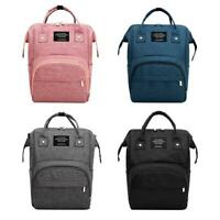 Solid Color Mommy Travel Backpacks Large Maternity Nappy Top-handle Bags