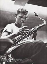 1955/87 Vintage 16x20 ZOOT SIMS Jazz Music Saxophonist Photo Art WILLIAM CLAXTON