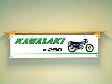 Kawasaki Triple KH250 Motorcycle Workshop Classic show BANNER