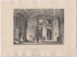 Thomas Allom c1845 Antique Steel Engraving Chateau de Chambord Near Blois