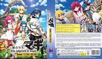ANIME DVD Magi:The Labyrinth Of Magic Season 1-3(1-63End)~Eng sub FREE SHIP+GIFT