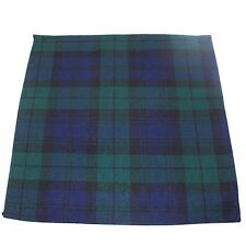 Mens Pocket Square Handkerchief Hanky Green Black Watch Tartan