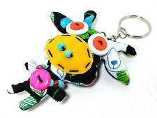 Giraffe Bear Moo Moo Cow Fabric Beads Doll Key ring Key Chains 6.6 x 7.7 cm.