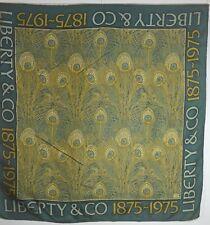VINTAGE 1975 LIBERTY OF LONDON CENTENNIAL SILK SCARF PEACOCK UU654