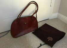 Genuine Mulberry Croc Embossed Leather Congo Handbag Red/Maroon Vintage Zipped