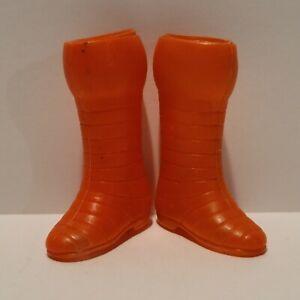 "Vintage 1970's Original Mego 8"" IRON MAN Red Boots - NICE++!!"