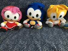 "9"" Sonic The Hedgehog Miles ""Tails"" Prowler And Amy Rose Plush Characters"