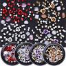 4 Boxen Metall Rose Opal Kristall Perlen Nagel Straßsteine 3D Nail Art Dekor