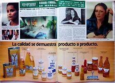 BARBARA CARRERA  => 2 pages 1982  Spanish CLIPPING !!!