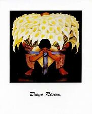 Diego Rivera: FLOWER CARRIER - 8x10 In. Art Poster Repro.