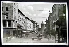 Germany ~ 1930's Mannheim ~ Neue Planken mit Blick zum Wasserturm ~ RPPC
