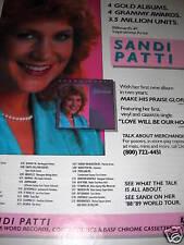 Sandi Patti Awards & Tour Dates 1988 Promo Poster Ad