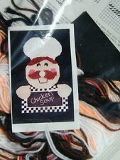 Kitchen Chef Plastic Canvas Stitch KIT - New In Package to Stitch & assemble