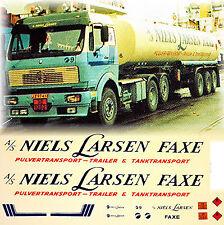 MERCEDES-BENZ Niels LARSEN - tanktranspot (Dk) 1:87 ADHESIVO PEGATINA Camión
