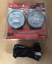 Universal DLAA Halogen Fog Lights Set 100mm H3 With Wiring Kit