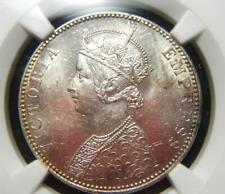 India 1893 Bombay Mint Rupee KM492 - NGC MS62- Strong Mint State Luster