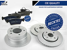 BBD4585 PREMIUM REAR 227mm SOLID BORG BECK COATED BRAKE DISCS PADS SET