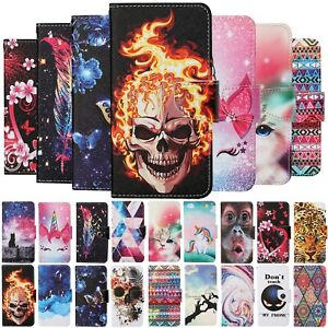 For Xiaomi Redmi 9AT 9C 8A Note 9 9S 8T Painted Leather Case Wallet Stand Cover