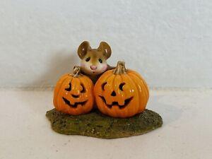 Wee Forest Folk Mouse Deborah Petersen Peek a Boo Halloween Pumpkins Miniature