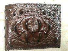 Genuine Real Alligator Crocodile Leather Men's Bifold Wallet - Brown Color