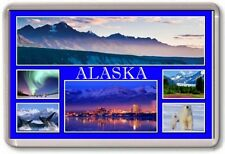 KÜHLSCHRANK-MAGNET - ALASKA - Große - USA Amerika TOURISTEN