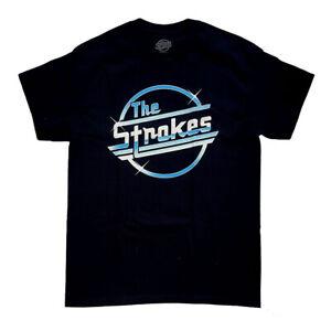 The Strokes Logo Men's Black T-Shirt Licensed Official Merchandise S M L XL