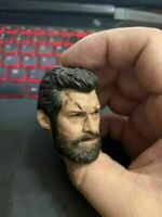 """1/6 Hugh Jackman Logan Head Sculpt Carving Fit 12"""" Male Action Figure Model"""