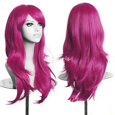 60-80cm Full Wig Long Straight Curly Wigs Party Costume Anime Hair Cosplay #jscv