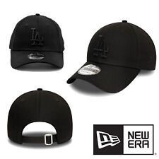 New Era 9FORTY LA Dodgers Black Embroidered Logo Adjustable Buckle Black Hat Cap